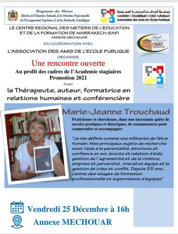 Rencontre ouverte Marrakech 2020